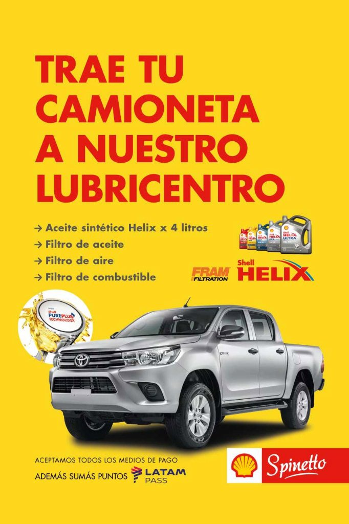 afiche lubricentro Shell Helix