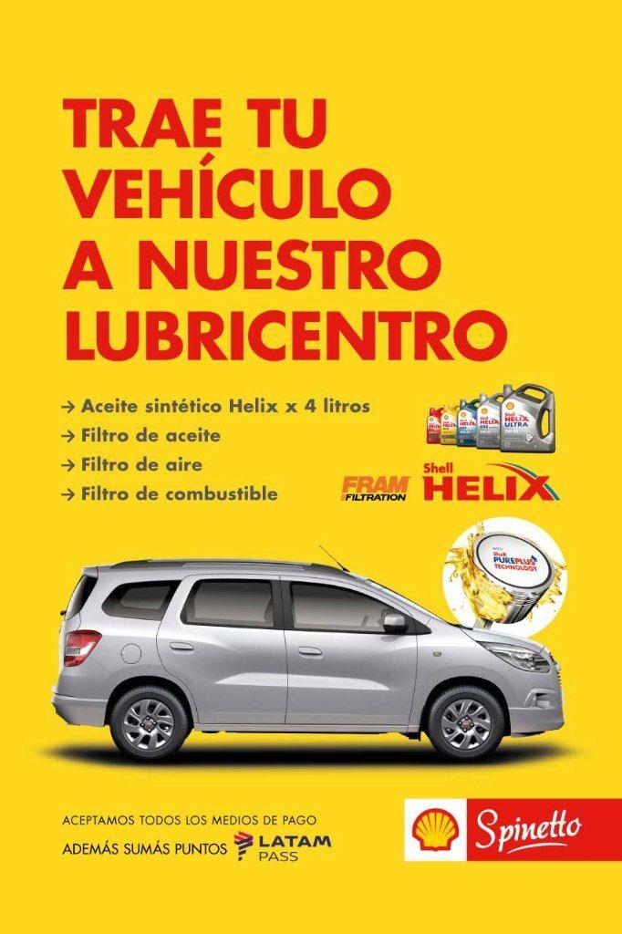 afiche lubricentro Shell Helix